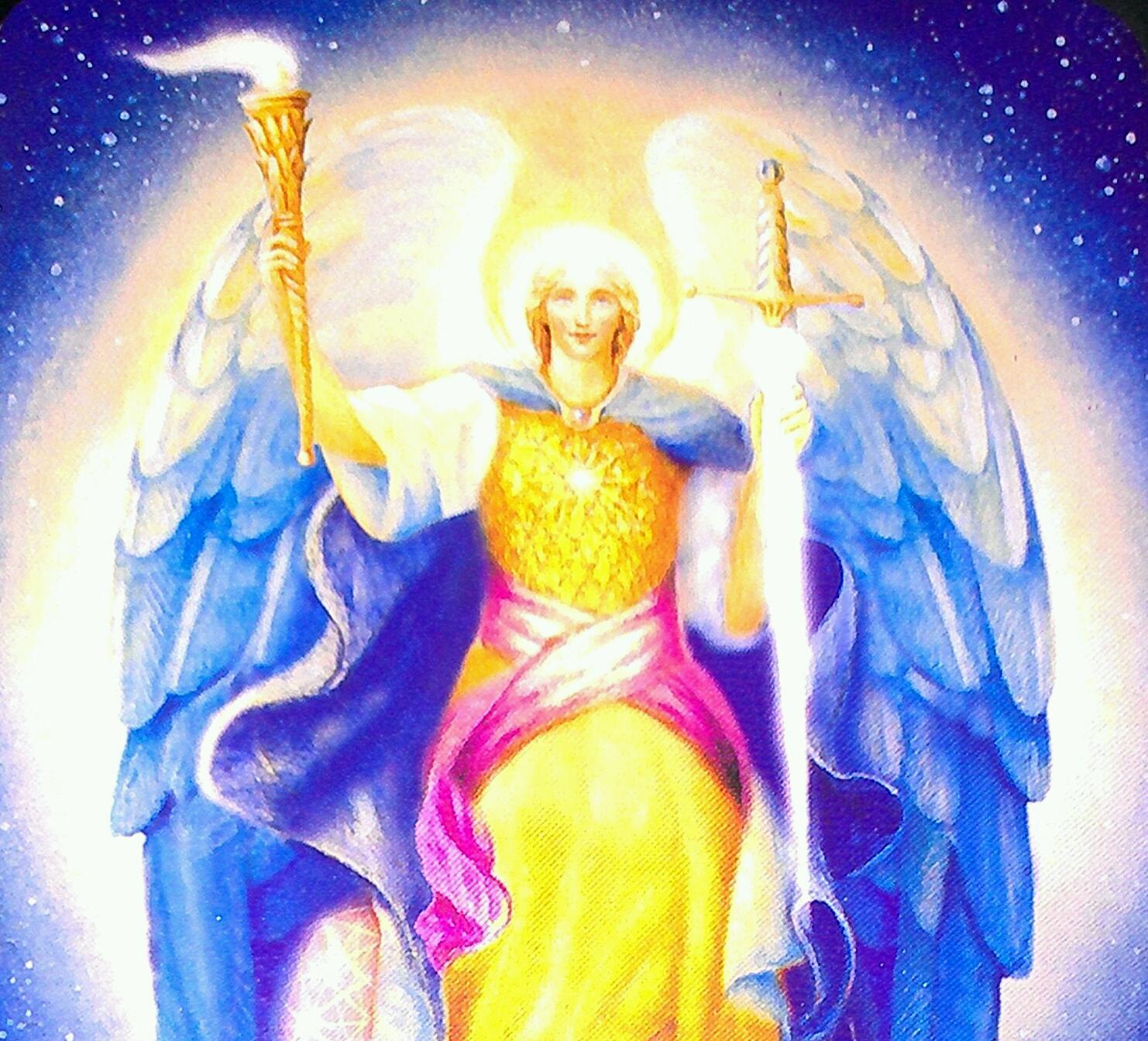 Archangel Michael card image courtesy of Doreen Virtue's Archangel Oracle Card Deck